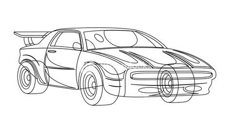 Sports Car Drawing Royalty-free Stock Image