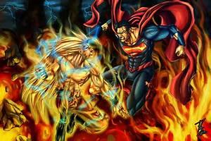 Goku vs Superman by IAMGALLA on DeviantArt
