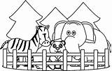 Coloring Zoo Animals Printable Printables sketch template