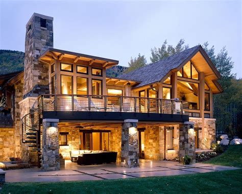 walkout basement house plans for a rustic exterior with a