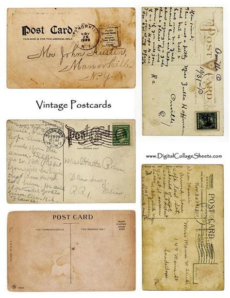 Postcard Template Free Printable And 39 S 135 Best Printies Mini Office Ephemera Images On