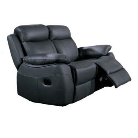 furniture link alessia black leather 2 seater recliner