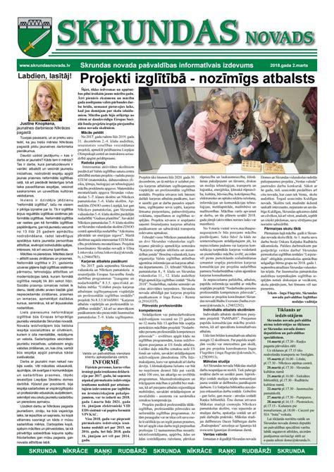Skrundas novads 2018 marts (1) by Iveta Rozenfelde - Issuu