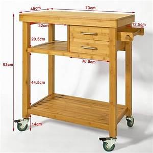 Küchenwagen Selber Bauen : sobuy servierwagen k chenwagen rollwagen m schublade handtuchhalter aus bambus fkw26 n ~ Buech-reservation.com Haus und Dekorationen