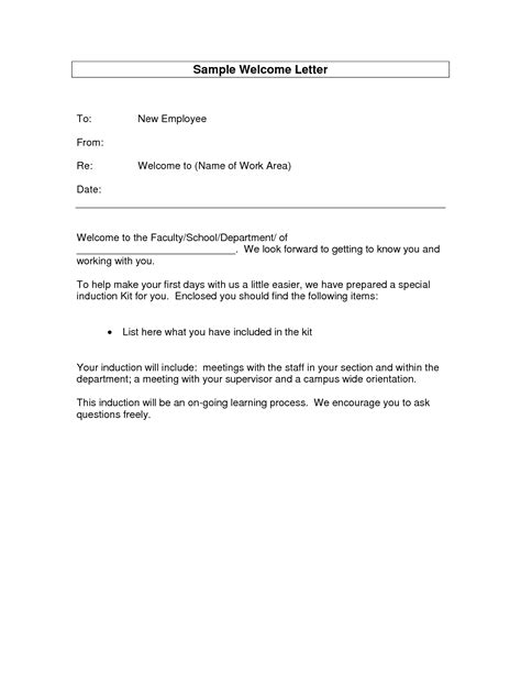 welcome letter for new employee new employees welcome email colomb christopherbathum co 10953