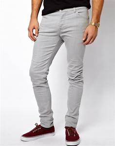 Mens Grey Skinny Jeans | Bbg Clothing