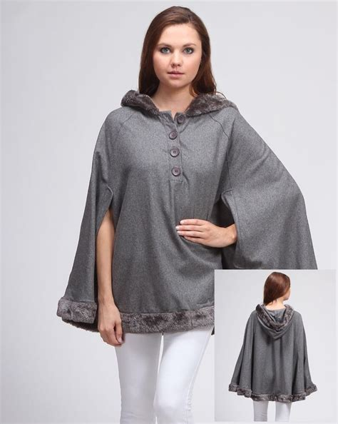 s cape sweater 39 s fleece hooded poncho sweater top cape ebay