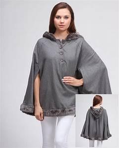 Women's Fleece Hooded Poncho Sweater Top Cape | eBay