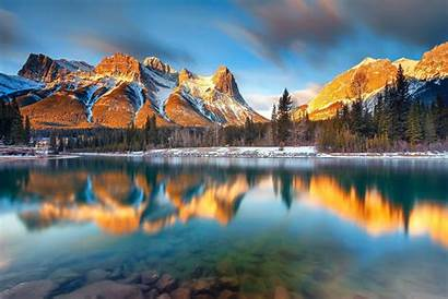 Lake Wallpapers Canada Albert Mountain Canmore Desicomments