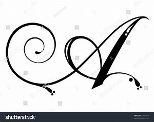 Letter A - Script Stock Vector 23861926 : Shutterstock