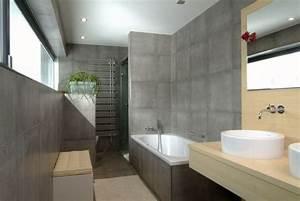 Bilder Bäder Einrichten : badezimmer fliesen beton optik badewanne holz waschtisch runde aufsatzbecken einrichten und ~ Sanjose-hotels-ca.com Haus und Dekorationen