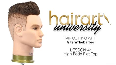 How High Fade Flat Top Pompadour Hairart University