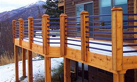 Horizontal Deck Railing Plans by Inexpensive Patio Designs Horizontal Deck Railing Ideas