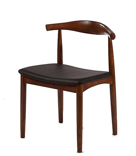solid wood mid century style accent dining chair walnut