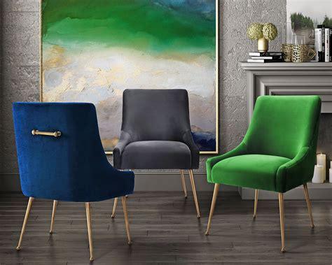 beatrix navy velvet side chair  tov coleman furniture