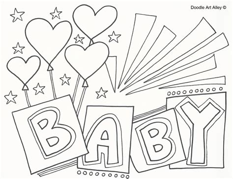 Baby Coloring Pages Baby Coloring Pages Doodle Alley