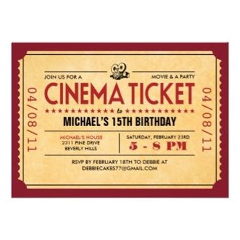 film invitations images  pinterest invitation