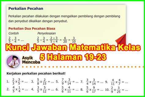 Matematika buku tematik tema 1 kelas 5 sd. Kunci Jawaban Buku Senang Belajar Matematika Kelas 5 ...