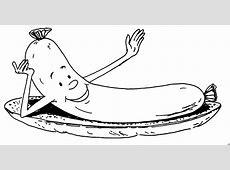 Servierte Wurst Ausmalbild & Malvorlage Essen Und Trinken