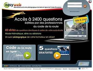 Code De La Route Série Gratuite : easyweb de codes rousseau apprentissage en ligne du code de la route ~ Medecine-chirurgie-esthetiques.com Avis de Voitures