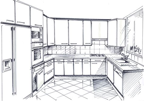 dessiner une cuisine en perspective dessiner en perspective une cuisine 28 images dessiner