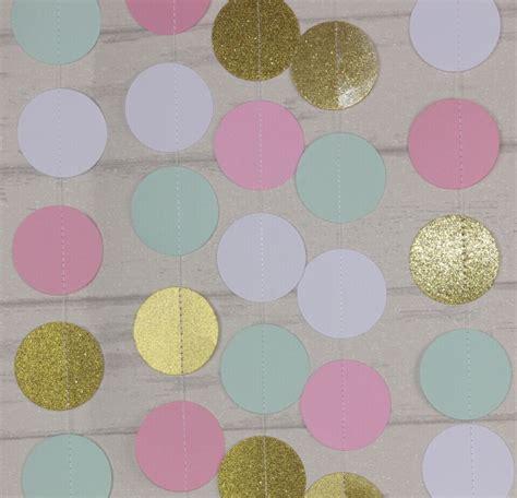 baby shower decoracion rosa menta oro guirnalda blanca