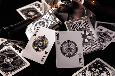 lance  millers steampunk playing cards black  white