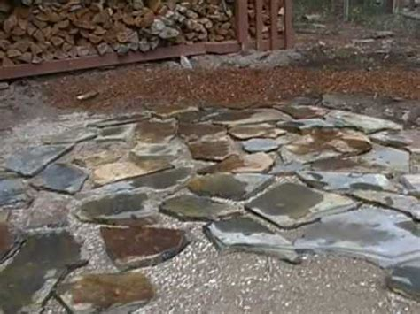 how to lay a flagstones patio part 1of2 mp4