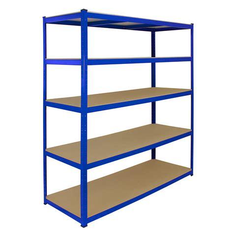 1 Bay Garage Storage Shed Shelving Metal Unit 5tier 160cm