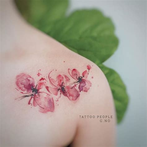 orchid tattoo design ideas  meaning