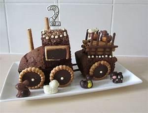 Gateau Anniversaire Garcon : g teau tracteur pour l 39 anniversaire de mon petit gar on ~ Melissatoandfro.com Idées de Décoration