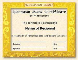 Athletic certificate template wwwpixsharkcom images galleries with a bite for Printable sports certificates