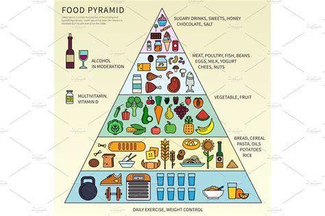 food pyramid   levels illustrations creative