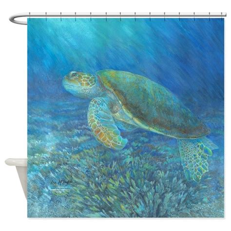 sea turtle shower curtain sea turtle shower curtain by mclaughlinwatercolor