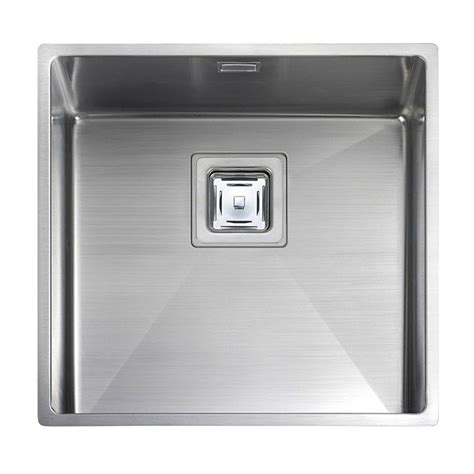 rangemaster kitchen sinks rangemaster kube 40 1 0 bowl sink sinks taps 1721