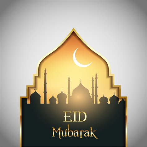 eid mubarak mosque design background window vector http