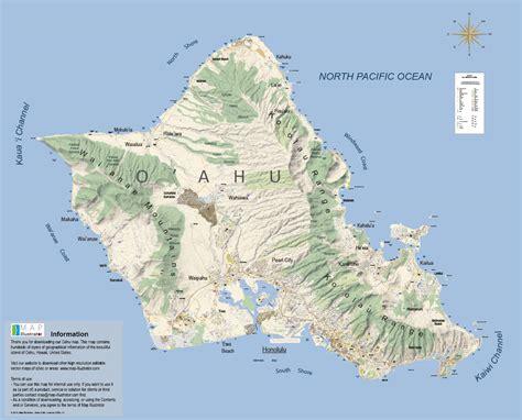 oahu map illustratorcom map oahu mappery