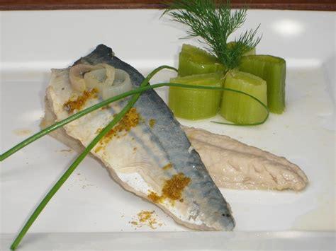 cuisiner filet de maquereau filet de maquereau mariné au vin blanc et ras el hanout