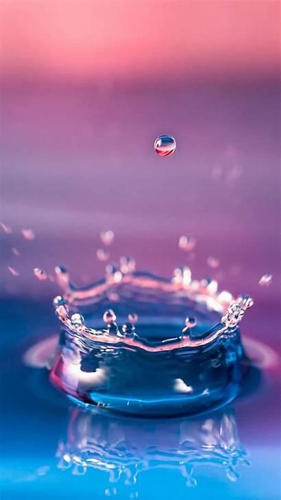 Water Iphone Galaxy Samsung Splash Wallpapers Macro