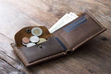 dompet pria wallet leather coin pocket wallet handmade original design by