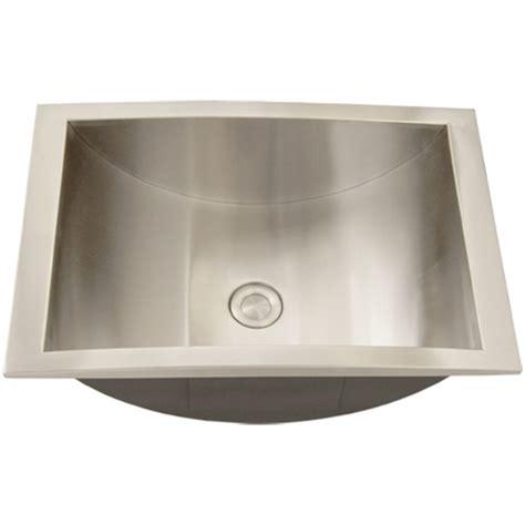 Install Overmount Bathroom Sink by Ticor S740 Overmount Stainless Steel Bathroom Sink