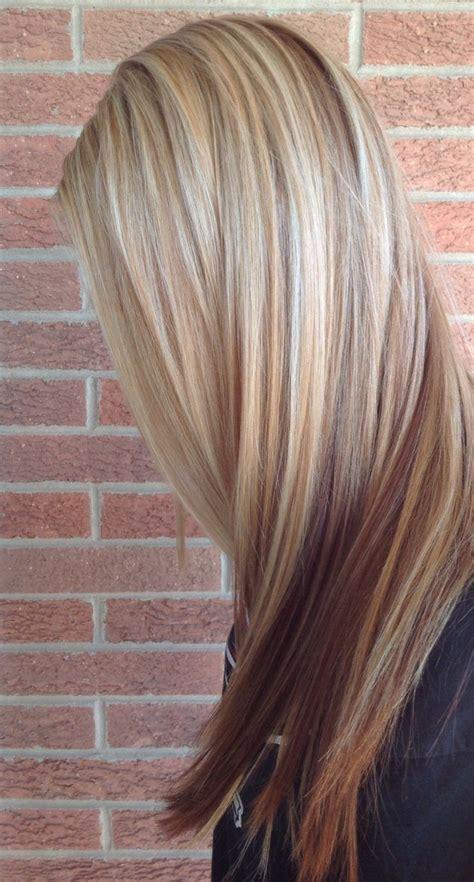 braune haare mit highlights braune haare mit blonden und roten highlights frisuren