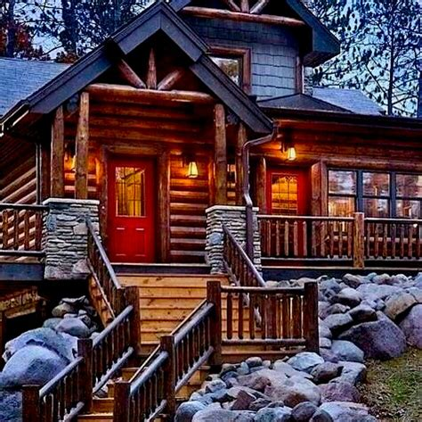 living  gridcom luxury  grid rustic cabin exterior design ideas share