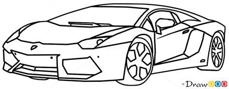 How To Draw Lamborghini Aventador, Supercars