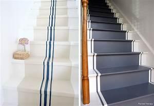 escalier peint 2 couleurs 3 decoration escalier With escalier peint 2 couleurs