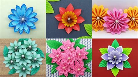 easy paper flowers tutorial diy paper flower