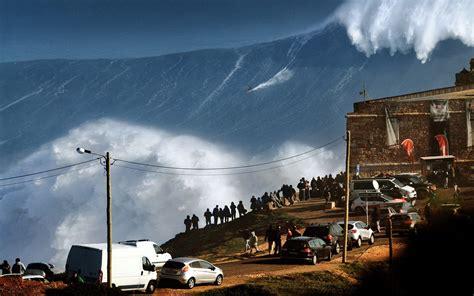 landscape nature huge waves sea surfing sports