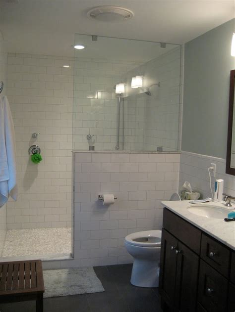 walls master suite  subway tiles  pinterest