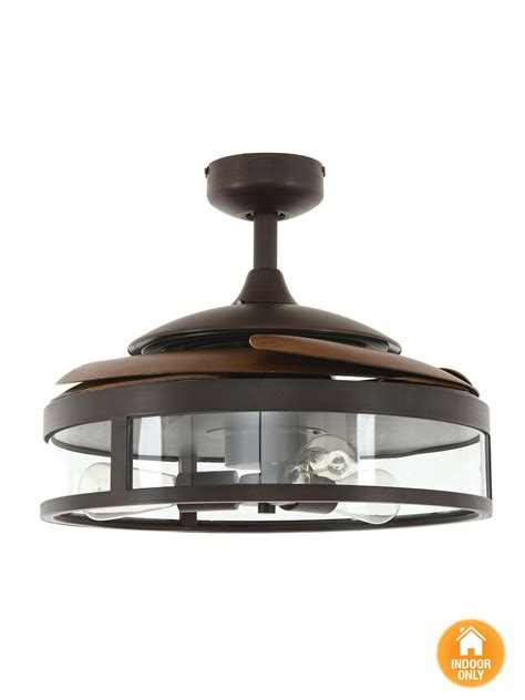 retractable blade ceiling fan with light fanaway classic orb ceiling fan with clear retractable