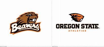 Oregon State Beaver Leave Nike Athletics Logos